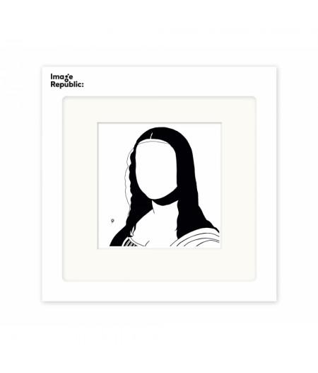 22x22 cm Pechelune Présence037 Mona Lisa - Affiche Image Republic