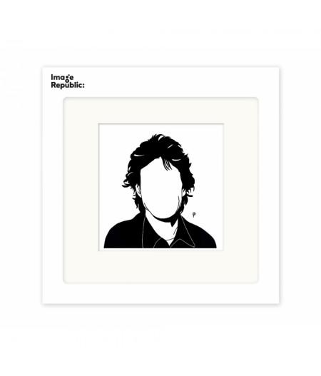 22x22 cm Pechelune Présence035 Mick Jagger - Affiche Image Republic
