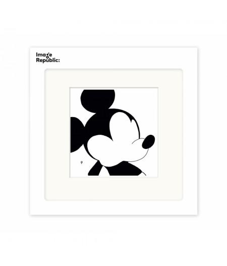 22x22 cm Pechelune Présence034 Mickey - Affiche Image Republic