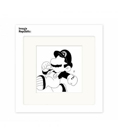 22x22 cm Pechelune Présence032 Mario Bross - Affiche Image Republic