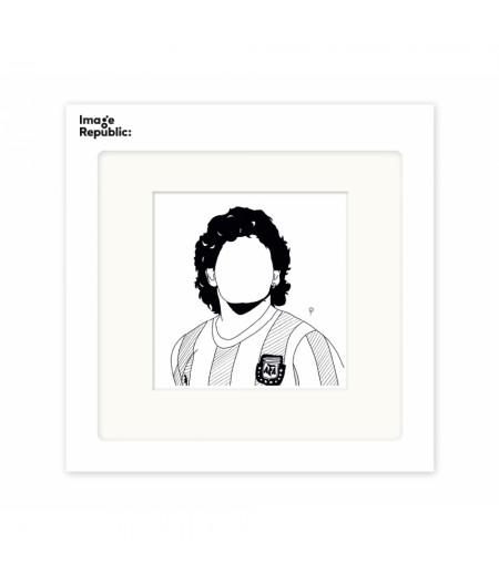 22x22 cm Pechelune Présence031 Maradona - Affiche Image Republic