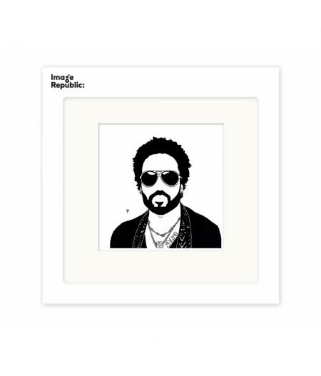 22x22 cm Pechelune Présence027 Lenny Kravitz - Affiche Image Republic