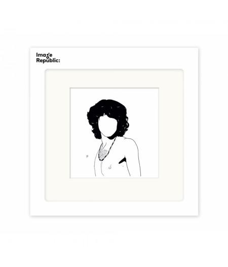 22x22 cm Pechelune Présence024 Jim Morrison - Affiche Image Republic
