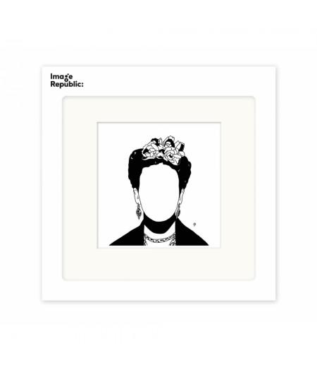 22x22 cm Pechelune Présence020 Frida - Affiche Image Republic