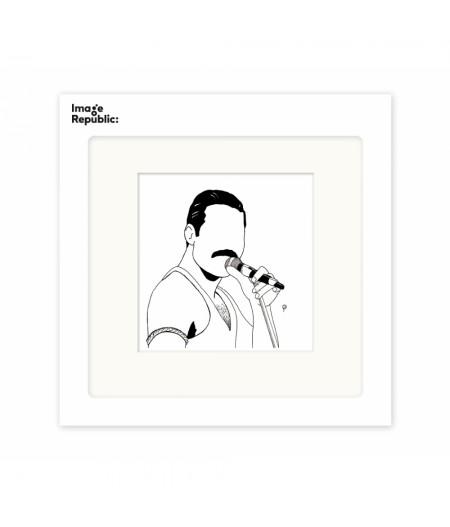 22x22 cm Pechelune Présence019 Freddie Mercury - Affiche Image Republic