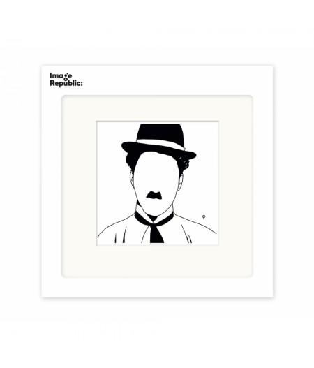 22x22 cm Pechelune Présence013 Chaplin - Affiche Image Republic