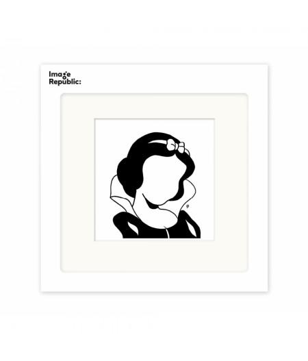 22x22 cm Pechelune Présence011 Blanche Neige - Affiche Image Republic