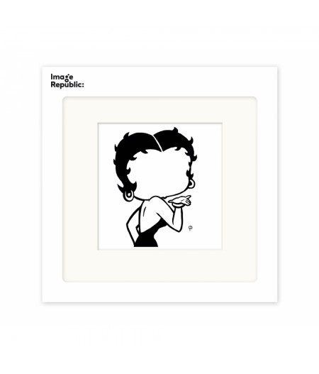 22x22 cm Pechelune Présence009 Betty Boop - Affiche Image Republic