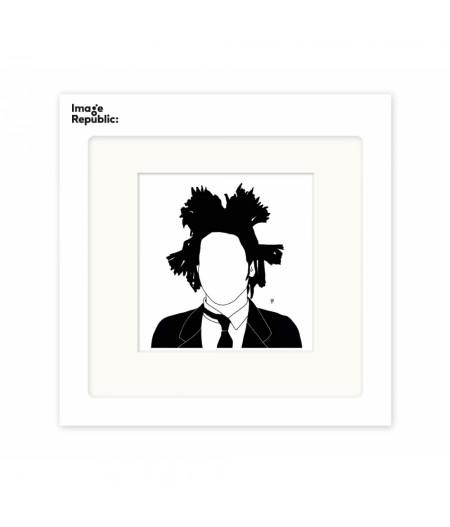 22x22 cm Pechelune Présence007 Basquiat - Affiche Image Republic