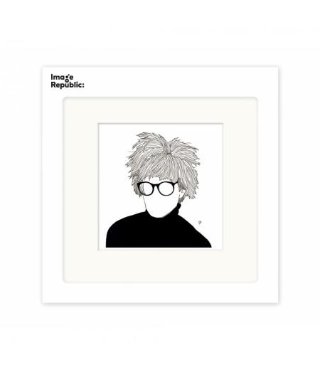 22x22 cm Pechelune Présence004 Andy Warhol - Affiche Image Republic