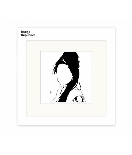 22x22 cm Pechelune Présence003 Amy Whinehouse - Affiche Image Republic
