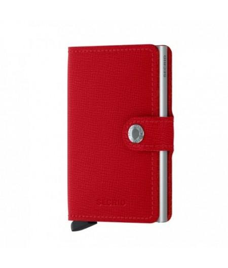 Miniwallet Secrid - Crisple Red - MC-Red