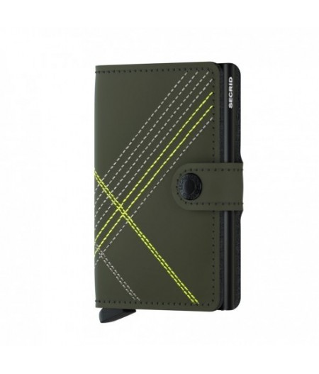 Miniwallet Stitched Lime - MSt-Linea Lime - Secrid