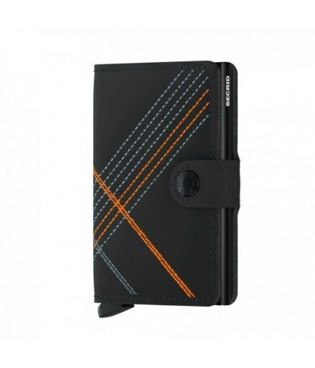 Miniwallet Secrid - Stitched Orange - MSt-Linea Orange