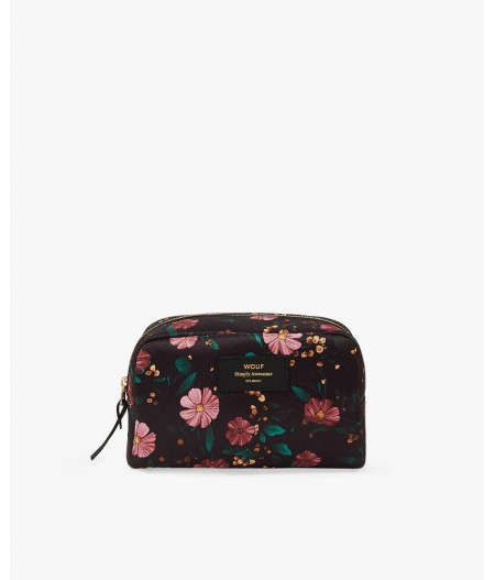 Trousse toilette Black Flowers Big Beauty - Wouf