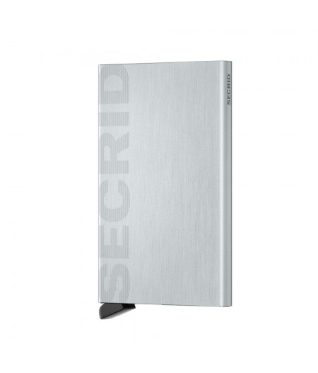 Card Protector Laser Secrid - CLa-Logo Brushed Silver