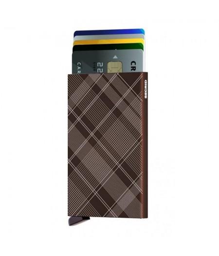 Cardprotector Secrid - Laser - CLa-Tartan Brown
