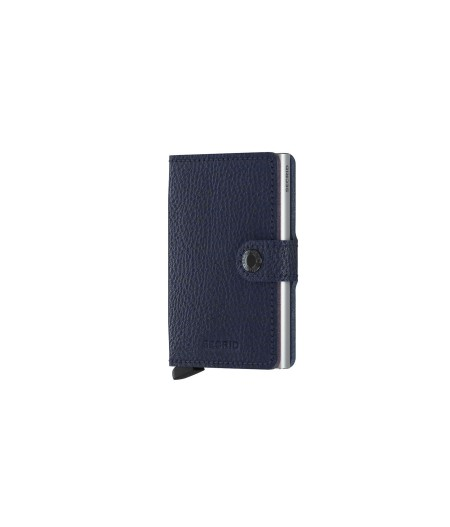 Miniwallet Secrid - Vegetable Tanned Navy-Silver - MVg-Navy-Silver