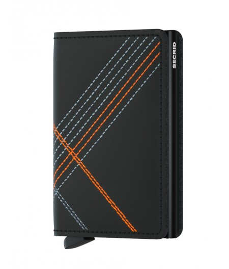 Slimwallet Secrid - Stitched Orange - SSt-Linea Orange
