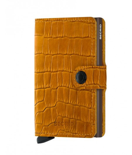 Miniwallet Secrid - Cleo Ochre Brown