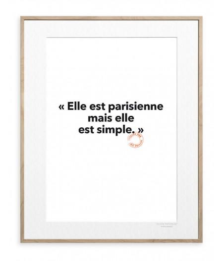 30x40 Cm Loic Prigent 09 Elle est parisienne - Image Republic
