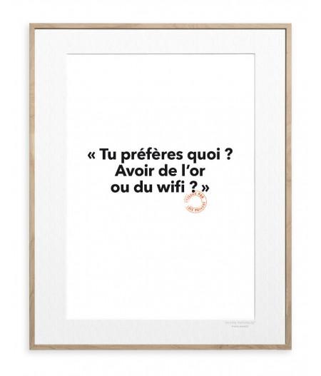 30x40 Cm Loic Prigent 102 Tu préfères quoi ? - Image Republic