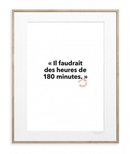 30x40 Cm Loic Prigent 109 Il faudrait des heures - Image Republic