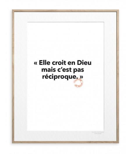 30x40 Cm Loic Prigent 13 Elle croit en Dieu - Image Republic