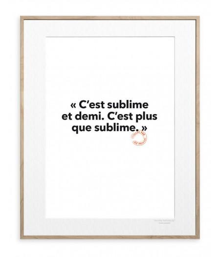 30x40 Cm Loic Prigent 26 C'est sublime - Image Republic
