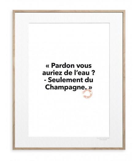 30x40 Cm Loic Prigent 27 Pardon vous auriez - Image Republic