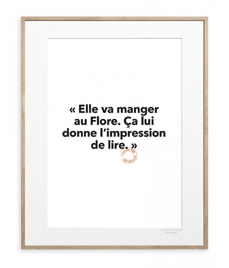 30x40 cm Loic Prigent 29 Elle va manger - Image Republic