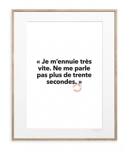 30x40 cm Loic Prigent 33 Je m'ennuie - Image Republic