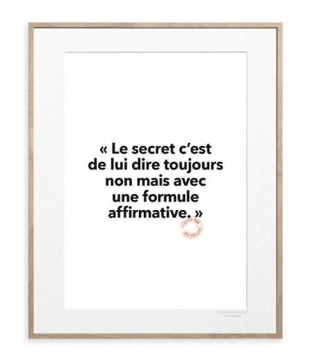 30x40 Cm Loic Prigent 82 Le secret c'est - Image Republic