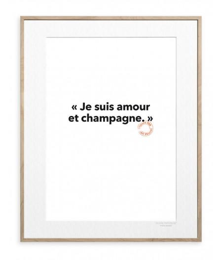 30x40 Cm Loic Prigent 87 Je suis amour - Image Republic