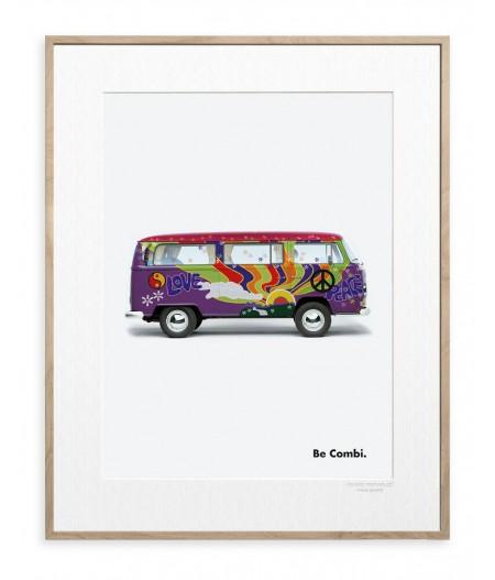 40x50 cm Affiche Be Combi Flower - Peace & Love  - Image Republic