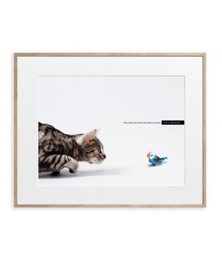 40x50 cm Affiche Nanoblock Chat - Image Republic