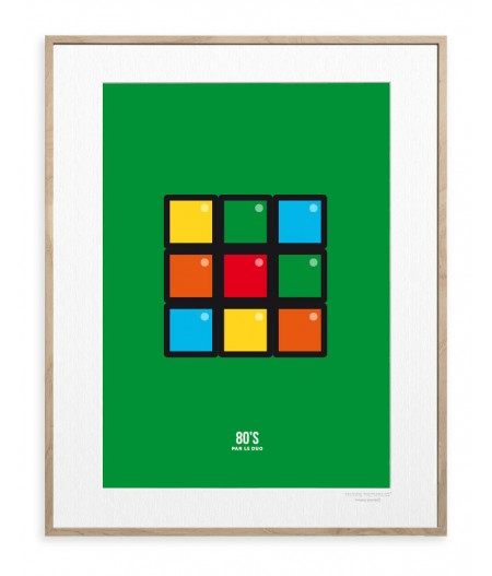 30x40 cm Le Duo 80 Cube - Affiche Image Republic