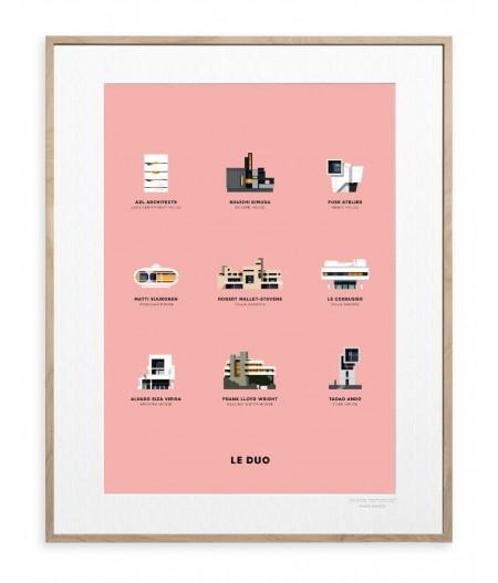 30x40 cm Le Duo Planche Architecture - Affiche Image Republic