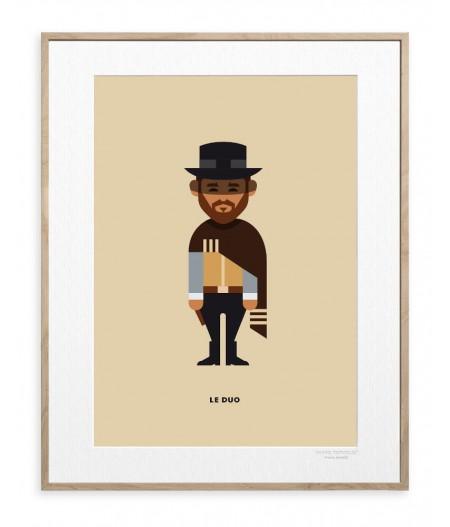 30x40 cm Le Duo Solo 09 Clint Eastwood - Affiche Image Republic
