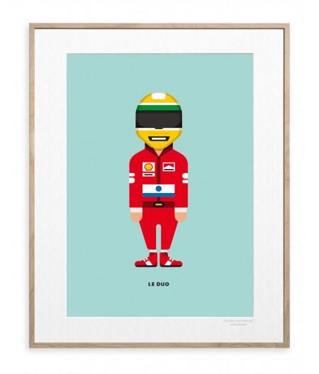 30x40 Cm Le Duo Solo 04 Ayrton Senna - Image Republic