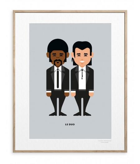 30x40 Cm Le Duo Solo 25 Pulp Fiction - Affiche Image Republic