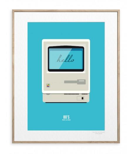 30x40 cm Le Duo 80's Macintosh - Affiche Image Republic