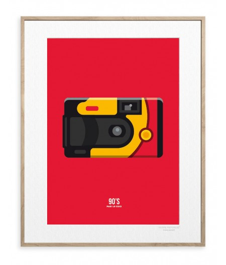 30x40 cm Le Duo 90 Photo - Affiche Image Republic