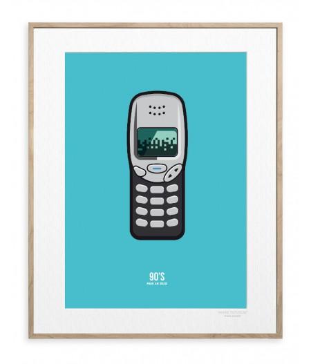30x40 Cm Le Duo 90's Portable - Affiche Image Republic