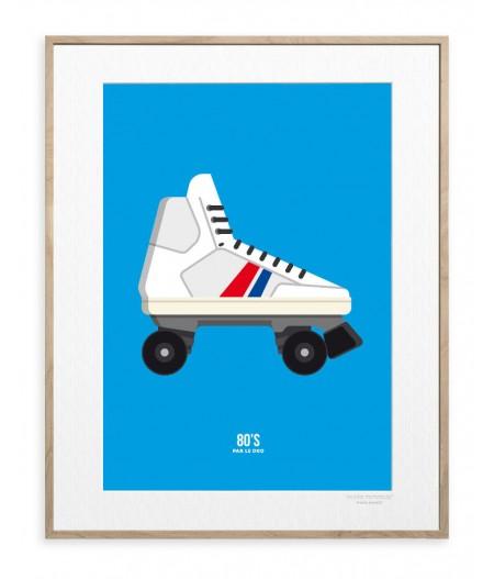 30x40 cm Le Duo 80's Roller - Affiche Image Republic