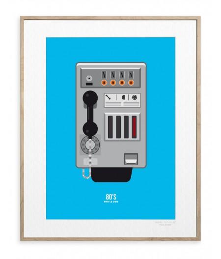 30x40 cm Le Duo 80's Taxiphone - Affiche Image Republic