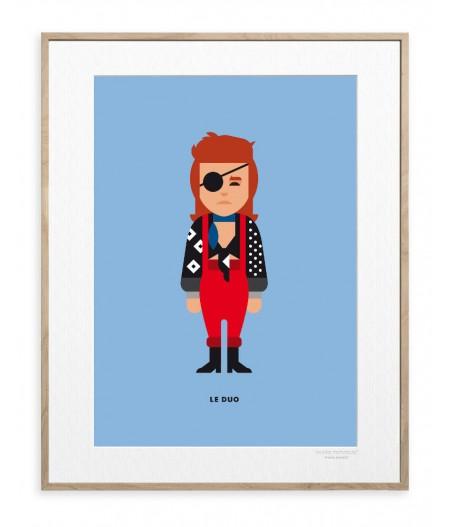 30x40 cm Le Duo Solo 13 David Bowie - Affiche Image Republic
