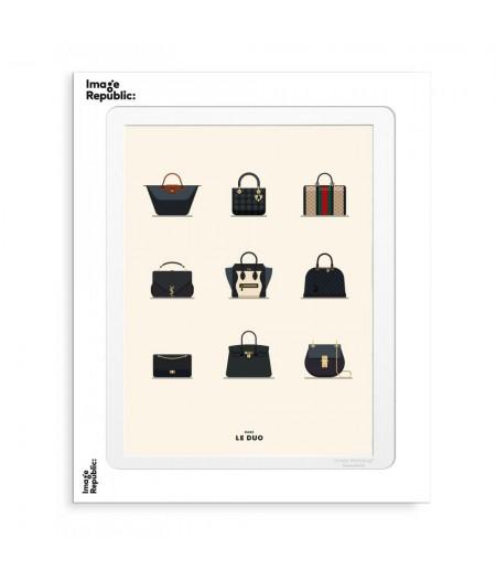 30x40 cm Le Duo Planche Bags - Affiche Image Republic