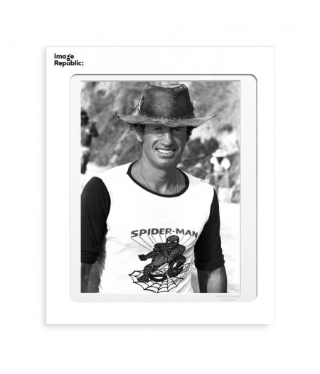 40x50 cm Belmondo Spiderman - Affiche Image Republic