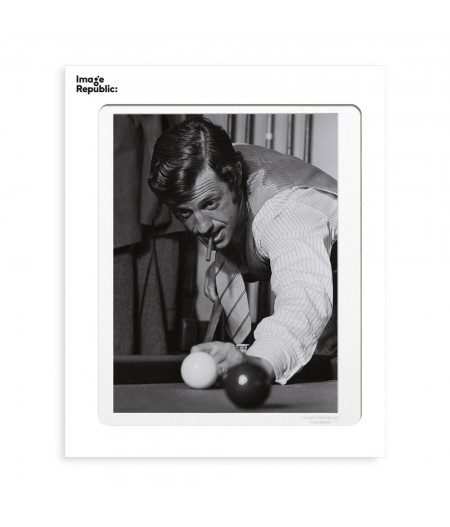 40x50 cm Belmondo Billard - Affiche Image Republic